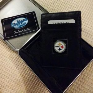 Other - Steelers Leather money clip/cc holder